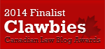 2014 Canadian Law Blog Finalist