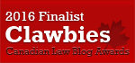 2017 Canadian Law Blog Finalist