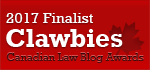 2017 Canadian Law Blog Finalist
