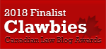 2018 Canadian Law Blog Finalist