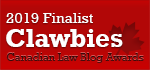 2019 Canadian Law Blog Finalist