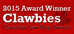 2015 Fodden Award for Best Canadian Law Blog Winner
