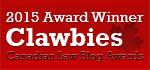 2015 Fodden Award for Best Canadian Law Blog Winner