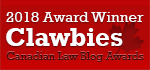 2019 Canadian Law Blog Awards Winner