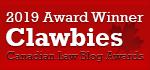 2019 Canadian Law Blog Awards Winner